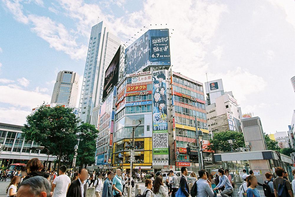 フィルム 渋谷交差点