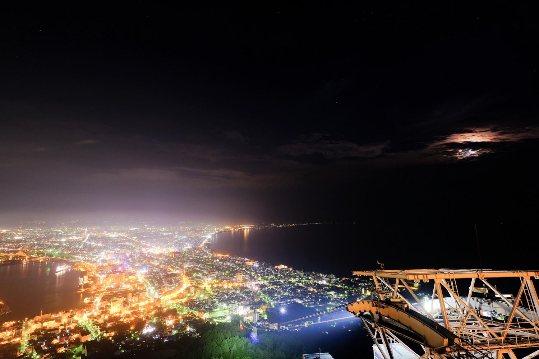 函館 夜景 月 XF10-24mmF4 R OIS