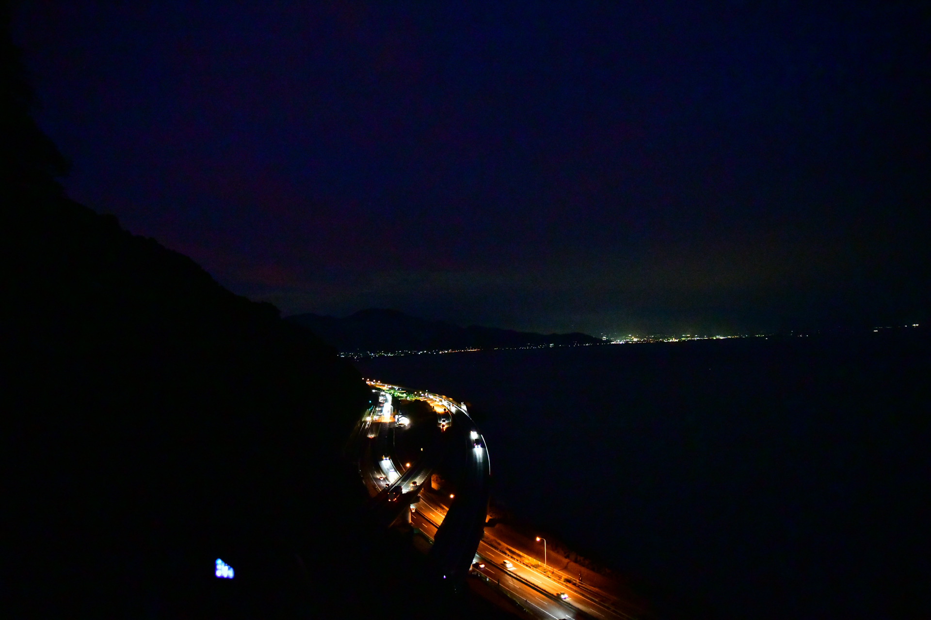 薩た峠 東名高速道路 夜景 D850+SP 24-70mm F/2.8 Di VC USD G2