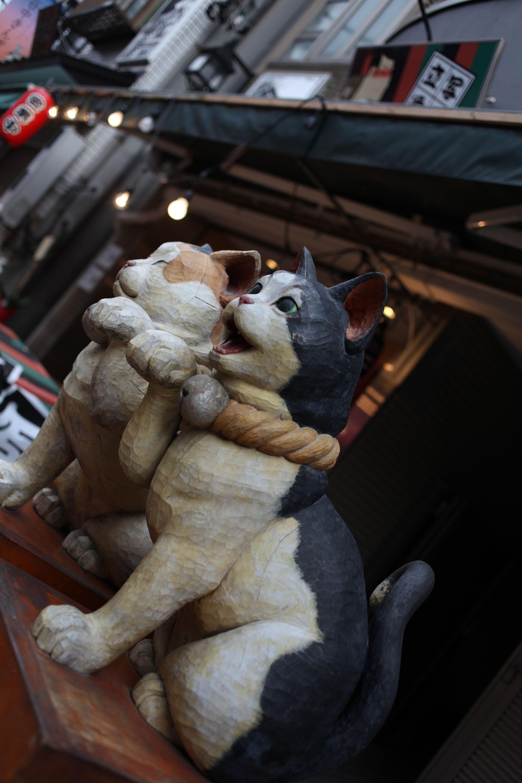 谷中銀座 木彫りの猫