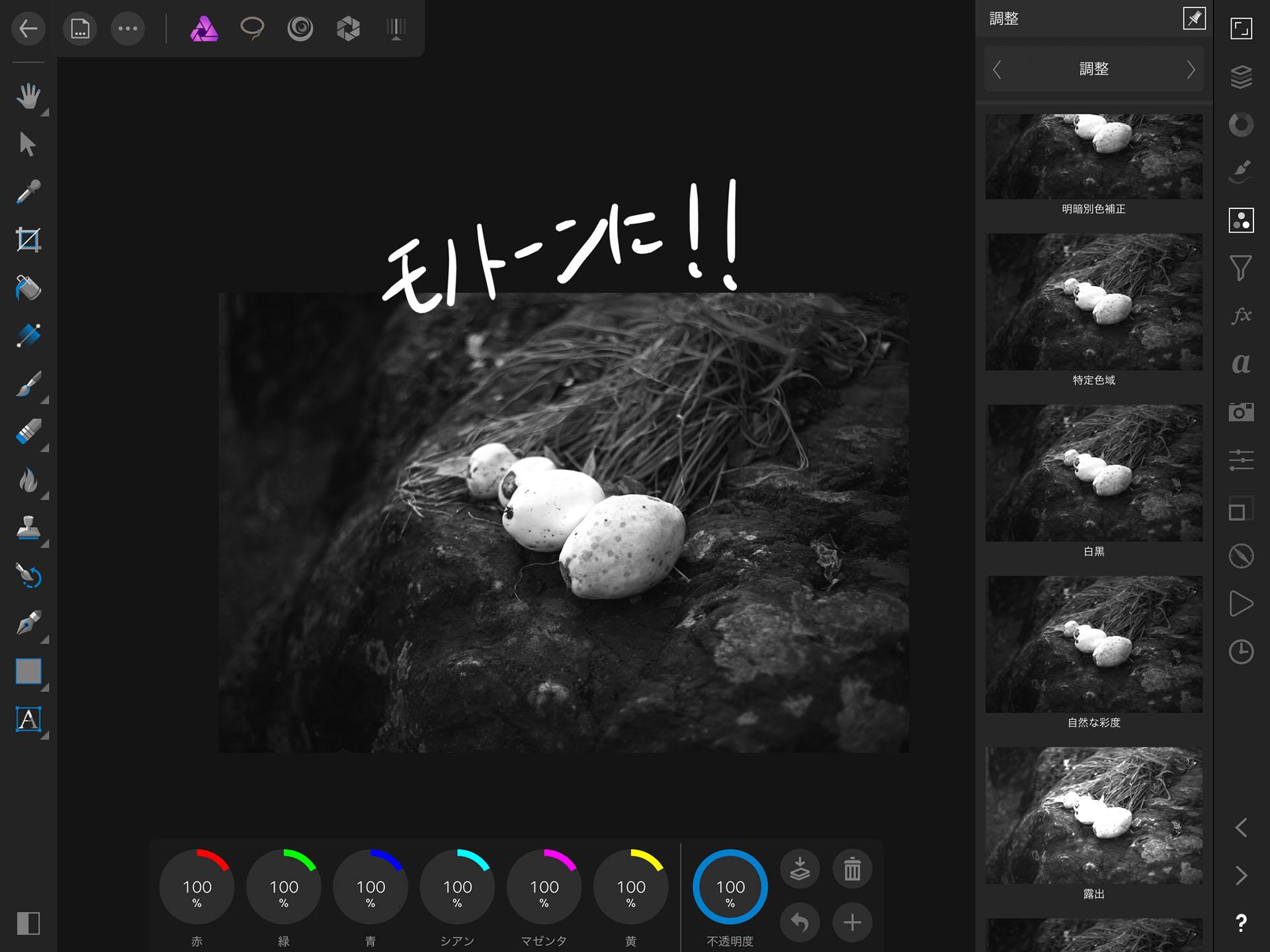 affinity photo アフィニティ