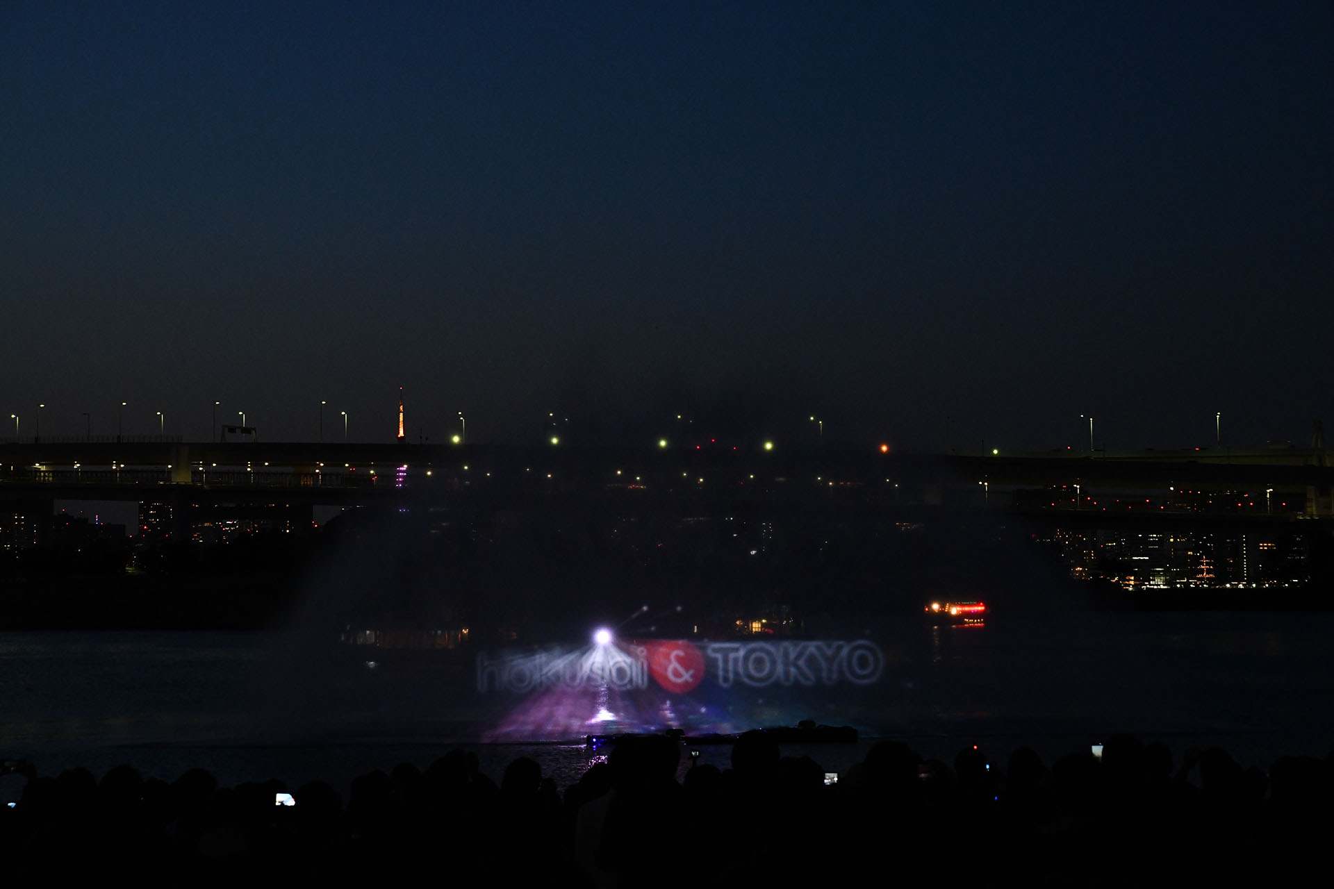 hokusai&TOKYO 水辺を彩る江戸祭 Nikon D850 タムロン 水幕電子描画 ウォータープロジェクションマッピング