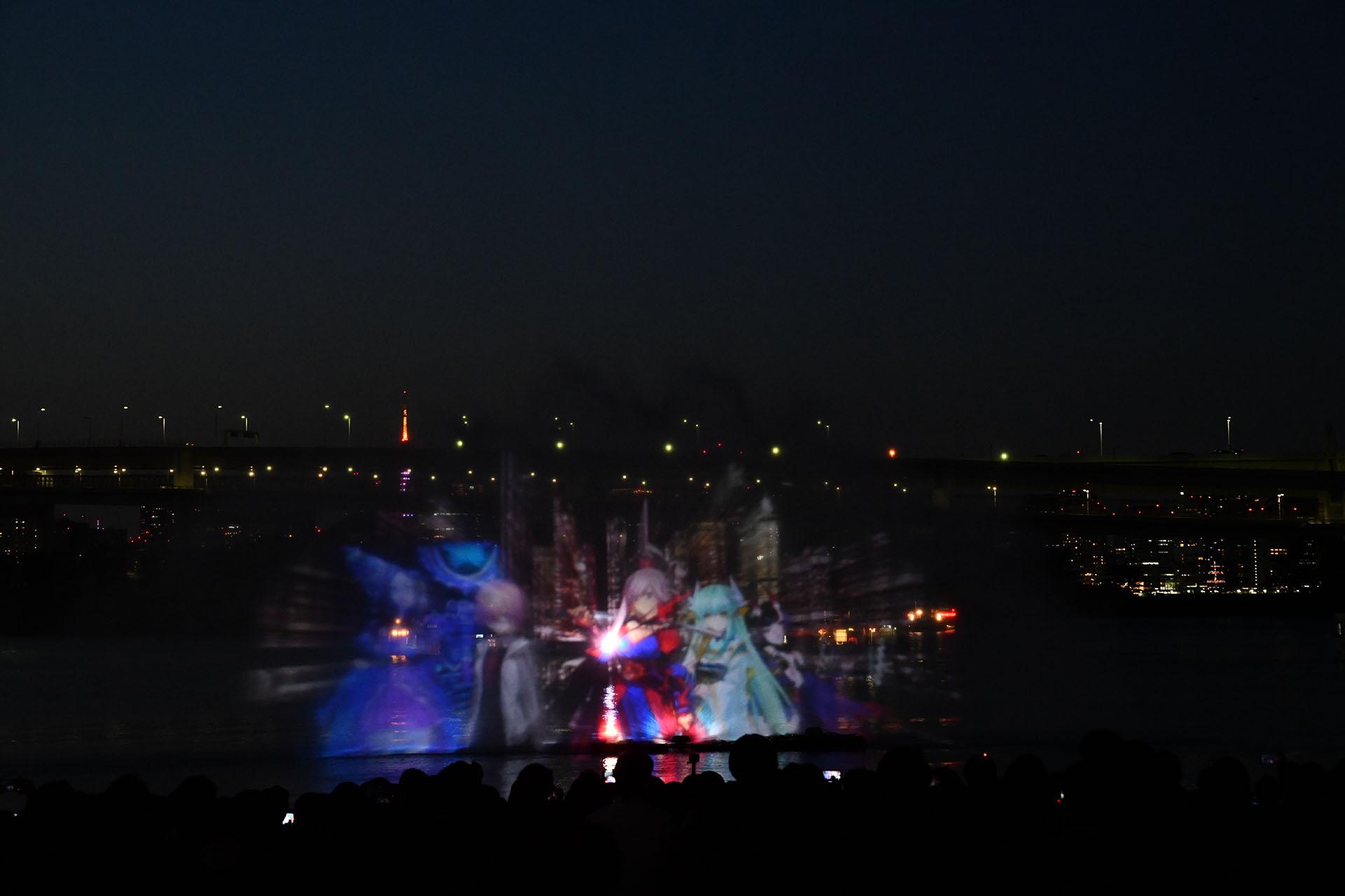 hokusai&TOKYO 水辺を彩る江戸祭 Nikon D850 タムロン 水幕電子描画 ウォータープロジェクションマッピング FGO