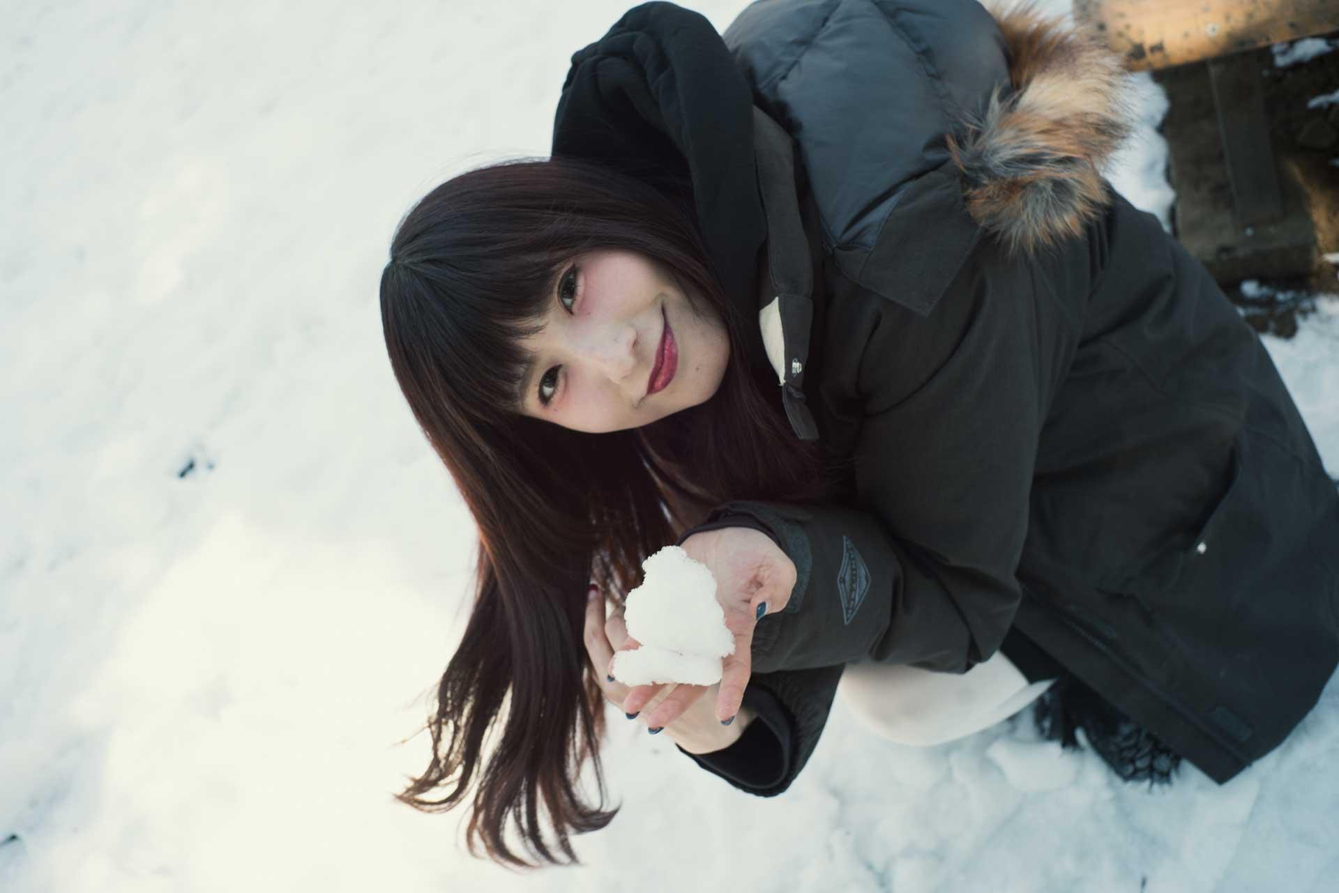 雪 ポートレート こめくら SONY α7Rⅱ Voigtlander フォクトレンダー